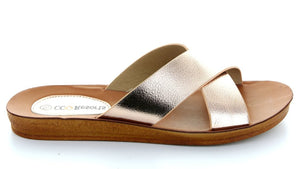 CC Resorts Veera Cross Over Sandals - Rose Gold