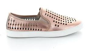 Abigail Summer Slip-on Casuals - Rose Gold leather