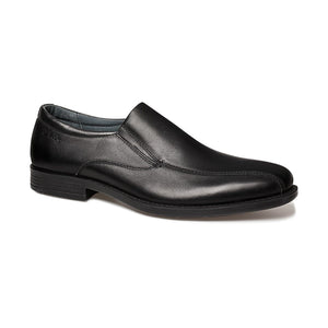 Clarks Columbia Slip On School Shoes F width -  Black