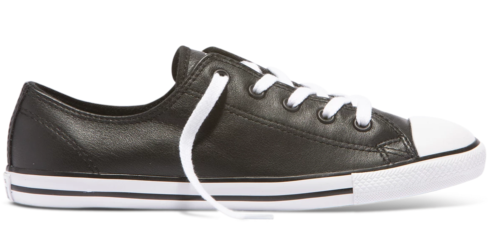 Chuck Taylor All Star Dainty Ox leather - black/white