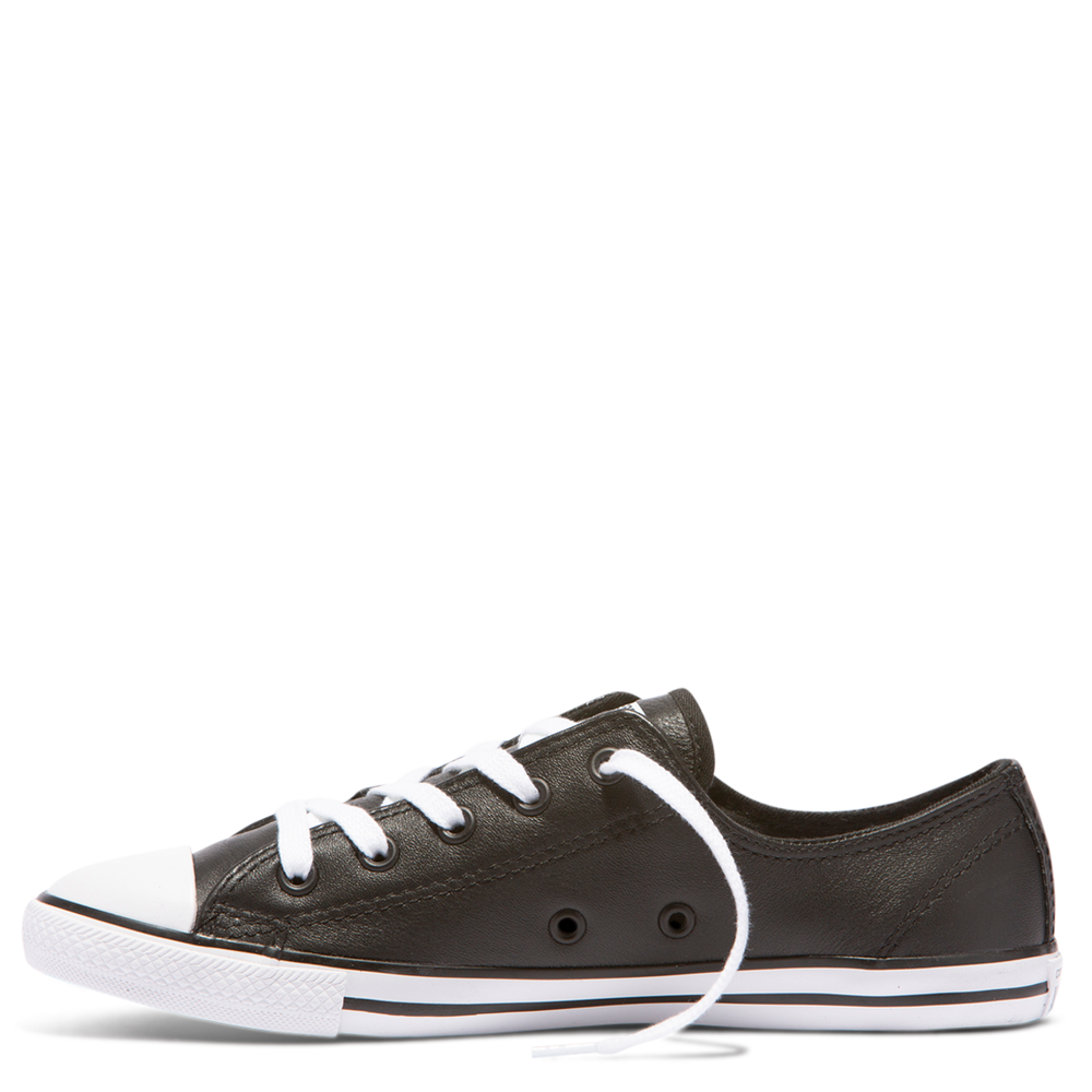 Chuck Taylor All Star Dainty Ox leather - black – Eden Shoes 75a0bce0a