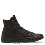 Chuck Taylor All Star Hi Monochrome Leather 135251- Black/black