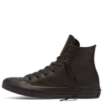 Converse Chuck Taylor All Star Hi Top Monochrome Leather - Black