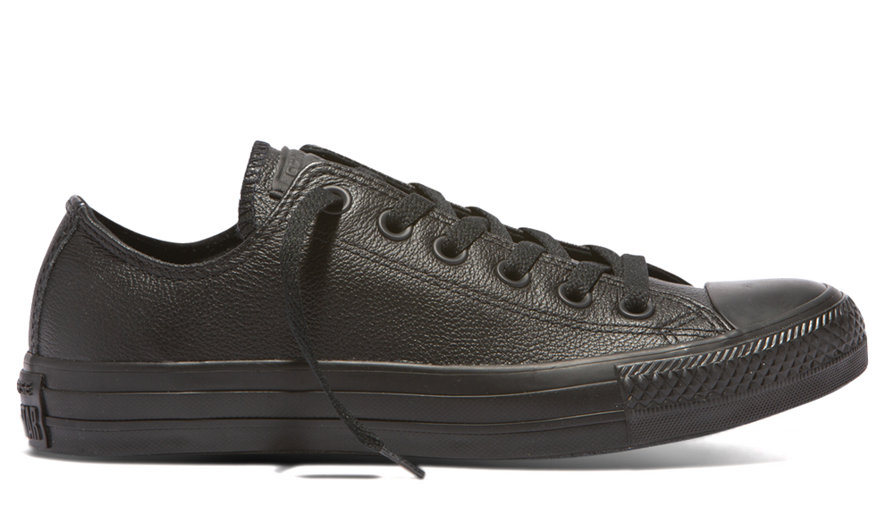 Chuck Taylor All Star Ox Monochrome Leather 135253 - black/black