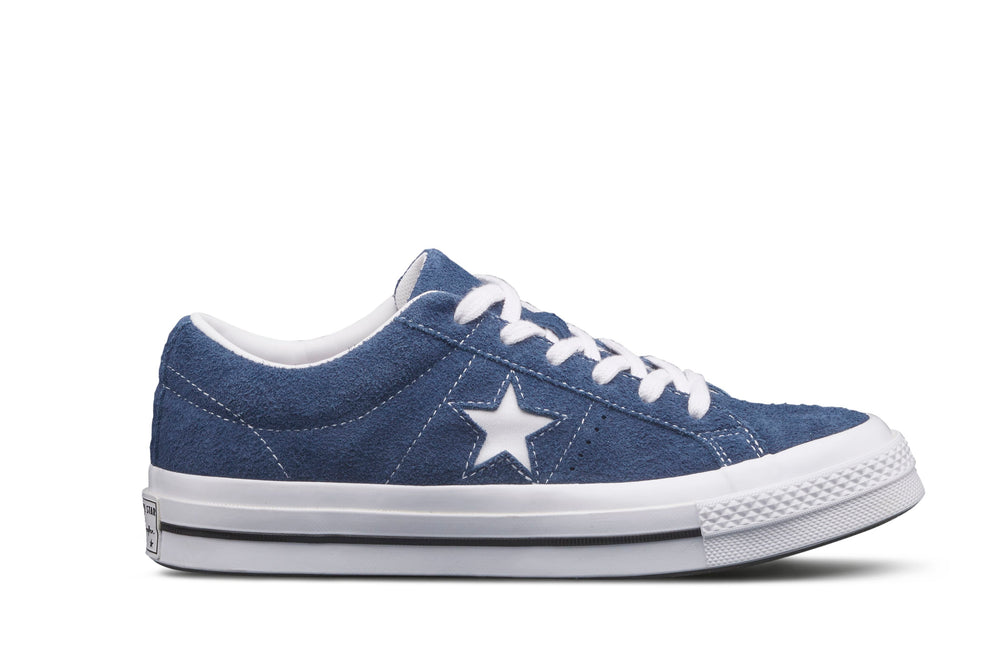 28a7ee787967 One Star Premium Suede Low - navy blue