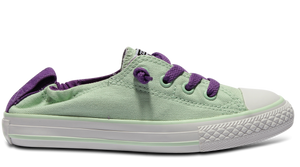 Converse Youths Chuck Taylor All Star Shoreline (Slip-On) Ox - Mint Julep/Allium Purple
