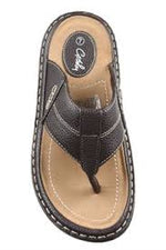 Grosby Jerrett mens slip on sandal - brown