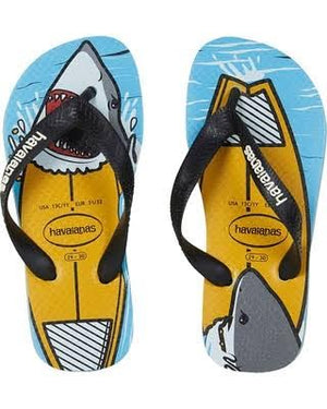 Havaianas Kids Top Play Shark- Yellow/blue