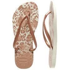 Havaianas Slim Animals Rose Gold Womens Jandals