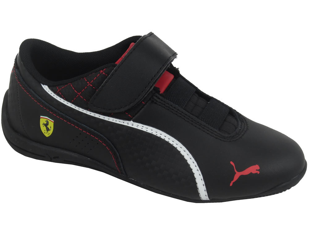 Youths Drift Cat 6 Velcro (SF) Ferrari V Kids - black