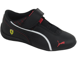 Puma Drift Cat 6 Velcro SF Ferrari Kids Black White Red – Eden Shoes efa51526de
