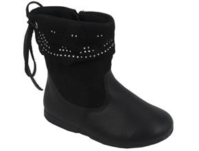 Toddlers 687010 Zip Tassel Boot - Black