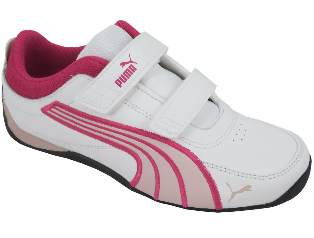Youths Drift Cat 4 L V Velcro - White