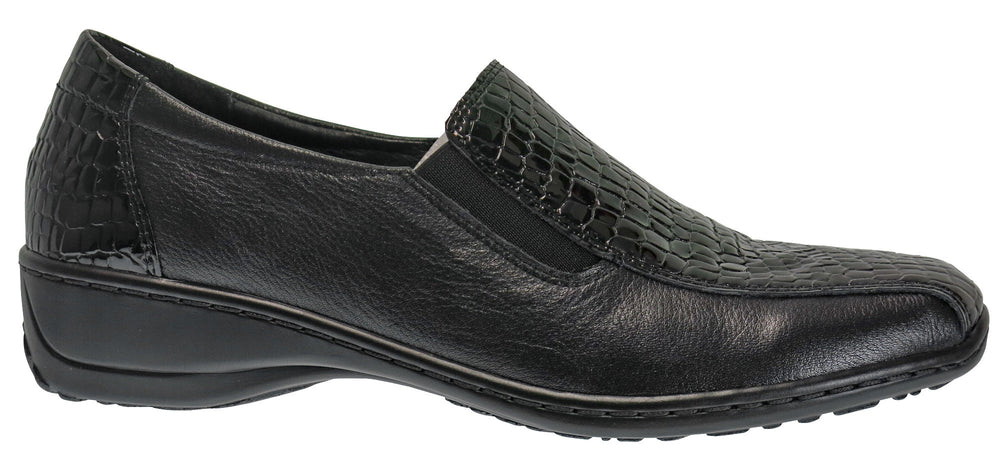 Cassini Moonbeam womens fashion flats - Black Patent Leather