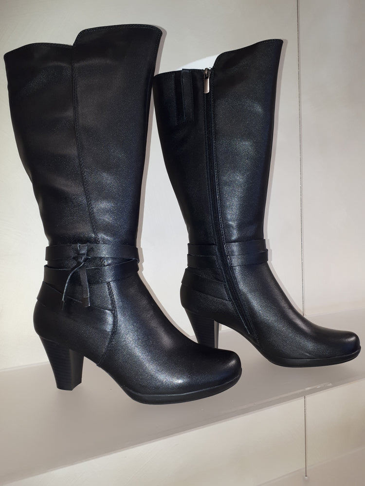 Aida Knee High Boots - black
