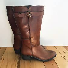 Athens Knee High Boots - brown