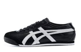 Onitsuka Tiger Mexico 66 Unisex Leather Sneakers - black