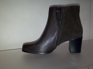 Relaxshoe Ebano Italian Leather/Suede Boots - Brown