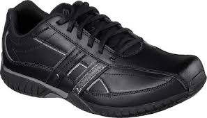Skechers Sendro Brusco Mens Leather Casuals - Black