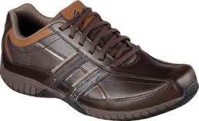 Skechers Sendro Brusco Mens Leather Casuals - Brown