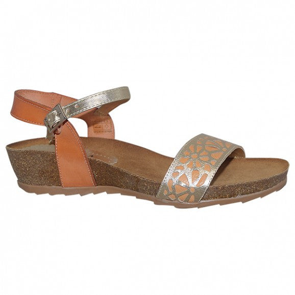 Sundowner Womens Checker Sandals - Gold