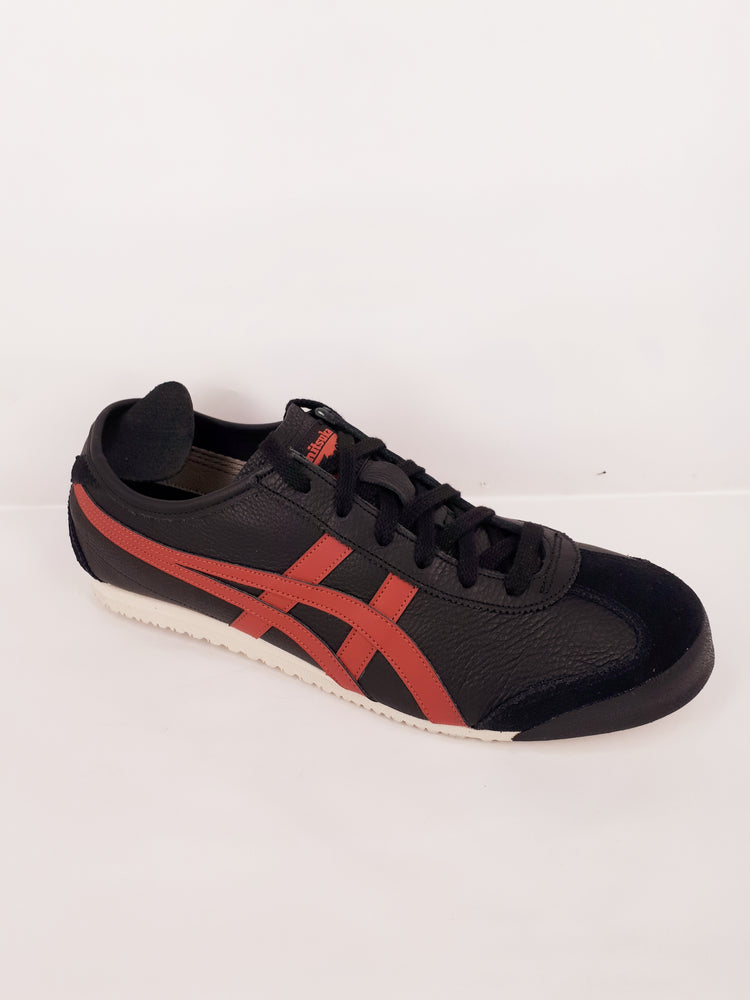 Onitsuka Tiger Mexico 66 Unisex Leather Casuals - black/burnt red