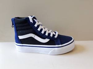 Vans Youths SK8 Hi Zip Pop Blue Depths- blue