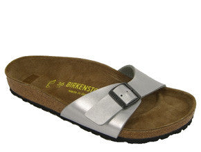 Birkenstock Madrid Birko-Flor Regular Fit- Silver Grey