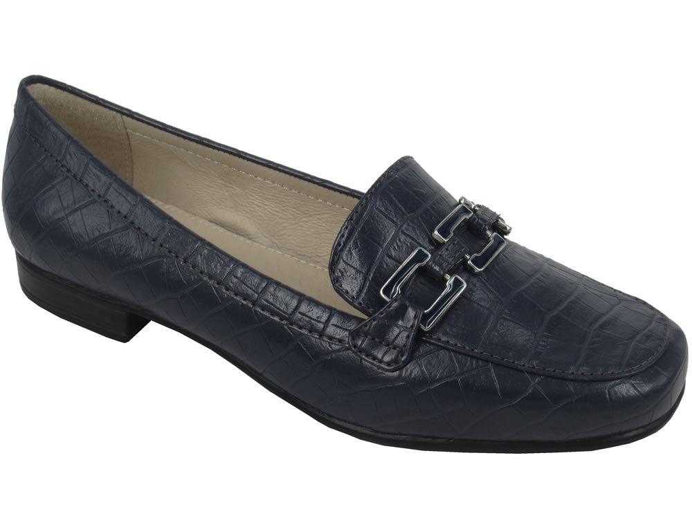 Lotus 'Tiger' Loafer - Navy Mock Croc