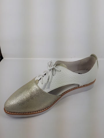 Waffle Women's dress shoes - gold/white leather