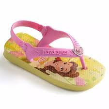 Havaianas kids baby belle princess backstrap jandals - yellow/pink
