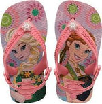 Kids Baby Frozen Rose Pink Jandals With Backstrap