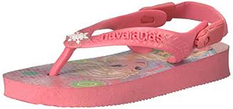Havaianas Kids Baby Frozen Rose Pink Jandals With Backstrap