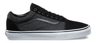 Vans Youths Old Skool Suede/Suiting - black