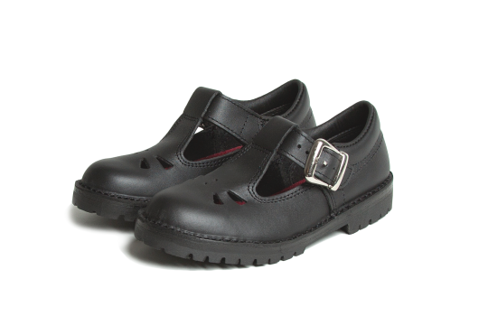 Rio Black  TBar buckle shoes- black