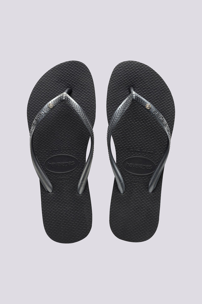 Slim Crystal Dark Grey Jandals