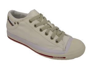 Diesel Magnete Exposure Low Womens Canvas Sneakers - Bright White