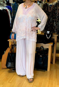 Silks by Sara Silk and Lace Shirt