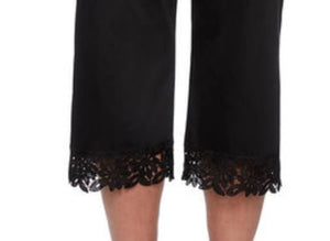 Alfred Dunner Capri with Lace Border- Black