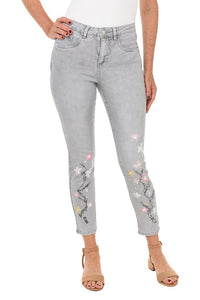 Olivia ankle pants with flowers by French Dressing Jeans