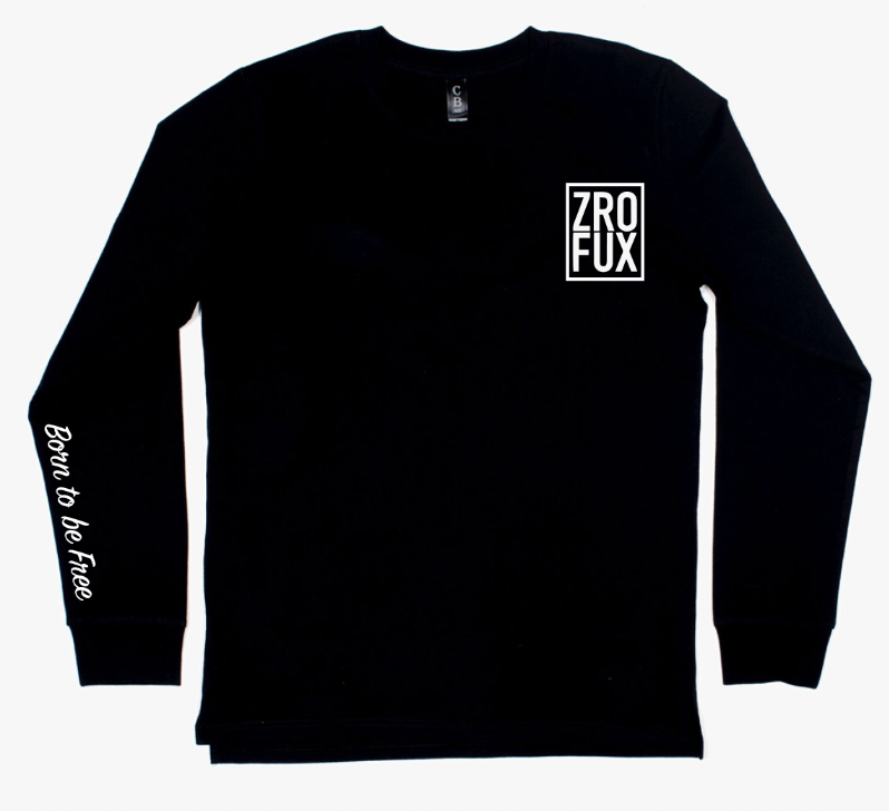 Freedom 2.0 Long Sleeve Tee - Black (Unisex)