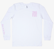 Load image into Gallery viewer, Freedom 2.0 Long Sleeve Tee - White/Pink (Unisex)