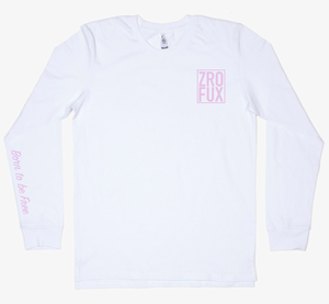 Freedom 2.0 Long Sleeve Tee - White/Pink (Unisex)