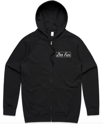 Distraction Zip Up Hoodie - Black (Unisex)