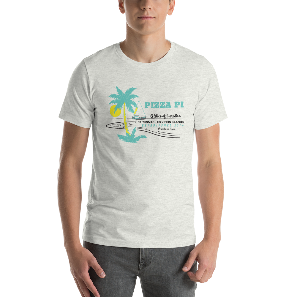 "Pizza Pi ""Slice of Paradise"" Unisex T-Shirt"