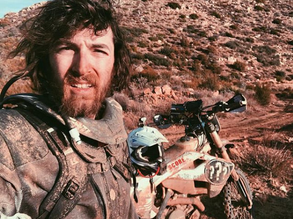 Update: Baja is Brutal. Dave Dunn snapped a selfie sometime during his 300-some miles of Baja