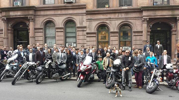 The NYC Distinguished Gentleman's Ride last Sunday.