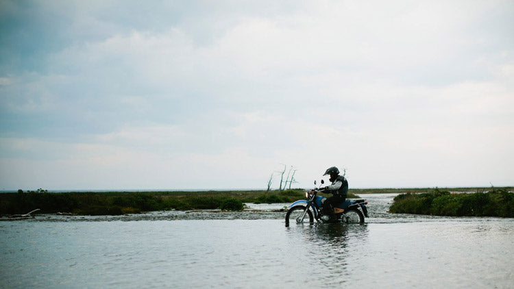 Elias rides through one of innumerable river crossings on our way to Lake Hovsgol.