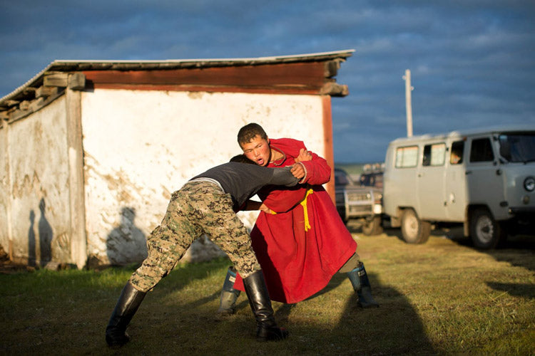 """Mongolian wrestling is one of the three """"manly pursuits"""" in Mongolia. Archery and horseback riding are the others."""