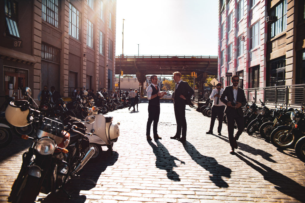 Industry City was the perfect meet-up spot for a pre-DGR event. Photo by Peter Domorak